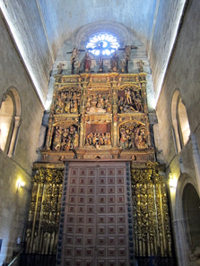 The Cathedral's Former High Altar, Now in Transept. Photo: KW.