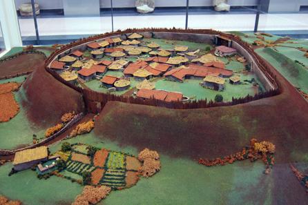 Ein Modell der keltischen Siedlung von Viladonga. Foto: KW.
