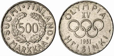 Finland: The first Olympian commemorative coin. From Künker 154 (2009), 1568.