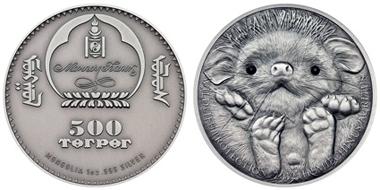 Mongolia / 500 Togrog / 1oz silver .999 / 38.61 mm / Mintage: 2,500 pieces.