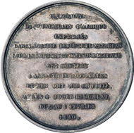 1840 medal by Montagny of the defense of the Mazagran fortress, at which 123 French soldiers from the Berry region battled