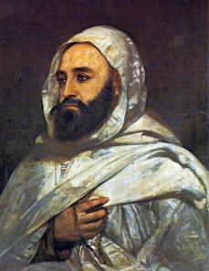 Portrait of Abd el-Kader, painted by Ange Tissier, 1852.