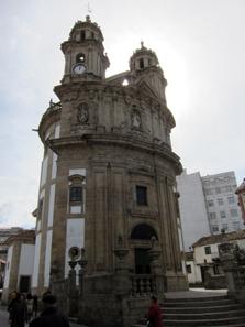 The strangely shaped Igrexa de Peregrina in Pontevedra - a stop on the Portuguese Way of Saint James. Photo: KW.