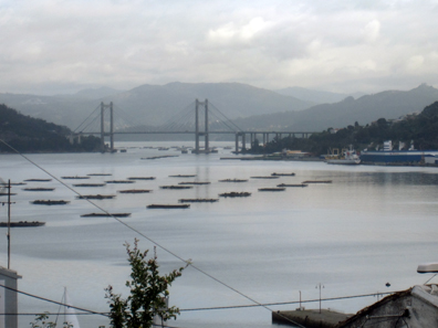 A view of the Bay of Vigo - today there's a bridge where the naval blockade of timber and chains must have been. Photo: KW.