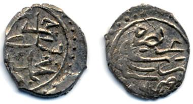 Aqche of Cem Sultan from his ruling period in Bursa. Source: University Collection Tübingen. No FINT DE6D2.