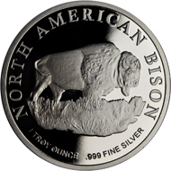 The 1oz silver Bison Bronx Zoo medal.