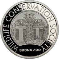 The 1/2oz silver Bison Bronx Zoo medal.