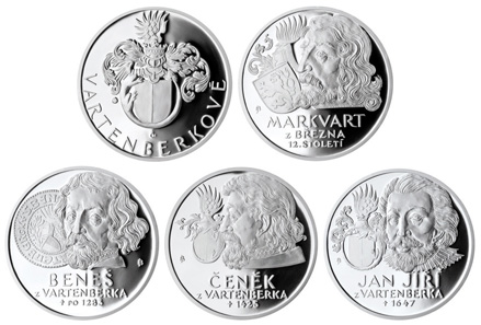 The silver medals were designed by Jaroslav Bejvl and are struck in proof quality and .999 silver. They have a diametre of 34 mm weighing 16.00 g each. Mintage: 800 pieces.