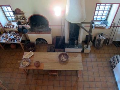 A view into the Roman kitchen. Photo: KW.