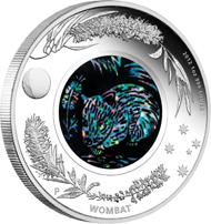 Australia / 1 AUD / 1oz 999 silver with opal inserted / 31.135 g / 36.60 mm / Design: Aleysha Howarth /Mintage: 8,000.