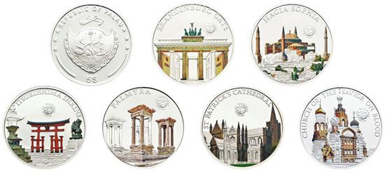 Palau, jeweils: 5 Dollar / Silber .925 / 20 g / 38,61 mm / Auflage: 2.500 Stück.