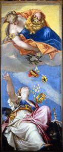 Paolo Veronese, Juno überschüttet Venedig, um 1553. Dogenpalast, Venedig. © 2012. Photo Scala, Florenz.