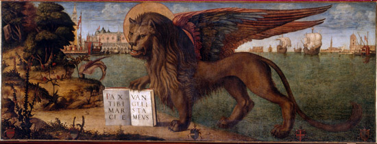 Vittore Carpaccio, Der Löwe von San Marco, 1516. Dogenpalast, Venedig. © 2012. Photo Scala, Florenz.