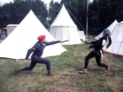 Mediaeval art of sword fighting. Photo: KW.