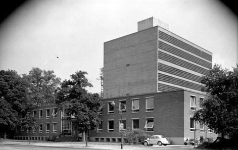 Die Deutsche BIbliothek in Frankfurt am Main 1960. Foto: Bundesarchiv, B 145 Bild-F008754-0002 / Steiner, Egon / CC-BY-SA.