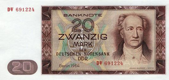 20 Mark DDR 1964.
