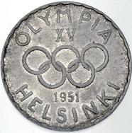 Finnland, 500 Markkaa 1951, 500er Silber.