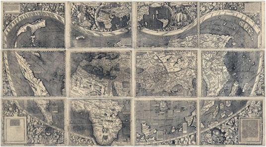 Martin Waldseemüllers Weltkarte von 1507 nannte zum ersten Mal den neuentdeckten Kontinent