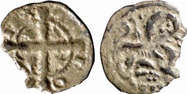 Alfons IX., König von Leon 1188-1230. Obol, Leon. Aus Auktion Künker 137 (2008), 3419.