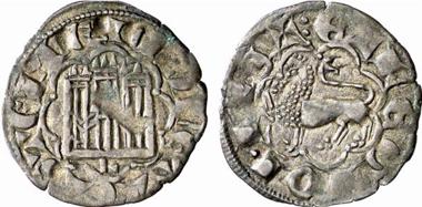 Alfons X., König von Leon und Kastilien 1252-1284. Noven, Leon. Aus Auktion Künker 137 (2008), 3429. Foto: KW.