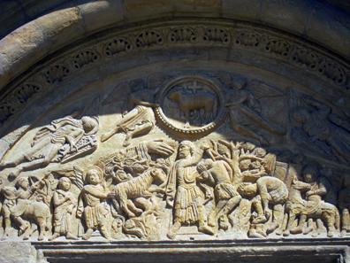Das Portal des Lamms von San Isidoro. Foto: KW.