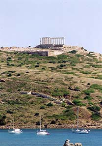 View at the Temple of Poseidon at Cape Sounion.