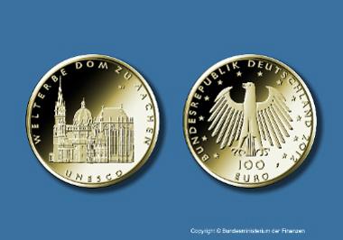 Deutsche 100 Euro Goldmünze Unesco Welterbe Dom Zu Aachen News