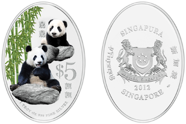 Singapore / 5 SGD / silver 999 / 31.10 g / 45.00 x 31.00 mm / Mintage: 10,000.