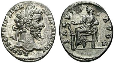 Septimius Severus, 193-211. Denar, östliche Münzstätte (