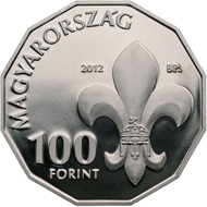 Hungary / 100 HUF / Cupro-nickel / 10 g / 30 mm / Design: Zoltán Tóth / Mintage: 5,000 (BU) and 10,000 (Proof).