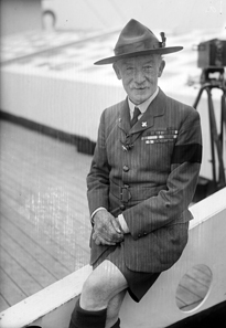 Robert Baden-Powell, the founder of the Scouting Movement.