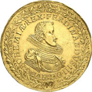 This splendid golden medallion from the Vogel Collection is coming up as nr 8051 for auction on October 30, 2012 in Künker auction 221 with an estimate of 150,000 euro.
