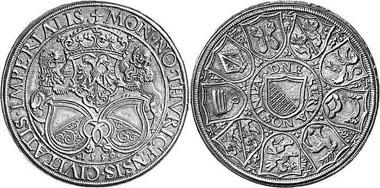 Zürich. Taler 1559 von Jakob Stampfer. Aus Auktion Leu Numismatik AG 85 (2002), 555.