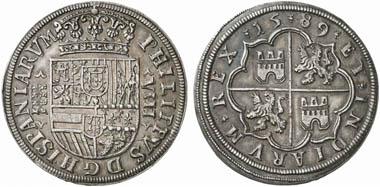 Felipe II (1556-1598). 8 Reales 1589, Segovia. Aus Auktion Künker 188 (2011), 342.