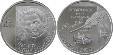 Slovakia / 10 Euro / Silver .900 / 18 g / 34 mm / Design: Pavel Károly / Mintage: 6,950 (Proof) and 5,200 (BU).
