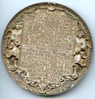 Hans Reinhart d. Ä. Dreifaltigkeitsmedaille, 1544. Silber. © Stiftung Schloss Friedenstein Gotha.