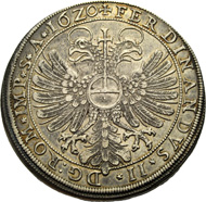 HUGO XIV and JOHANN VIII, 1619-1625. Taler 1620, Tettnang. Shield of arms with helmet. Rv. Crowned double eagle. Ebner 42. Münzen & Medaillen GmbH upcoming sale 37 on November 23, 2012, No. 331.