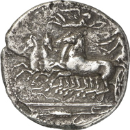163: SYRACUSE. Tetradrachm, 415/405. Tudeer 66. From the Kunstfreund Collection. RR, very fine / nearly extremely fine. Estimate: 10,000 EUR. Final Price: 50,000 EUR.