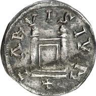 2107: CAROLINGIANS. Louis the Pious (814-840). Denarius. CNI VI, S. 229, 1 and plate XXII, 1. Depeyrot 1079 F. M./G. 452. Second-known specimen, very fine. Estimate: 10,000 EUR. Final Price: 14,000 EUR.