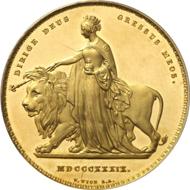 5193: GREAT BRITAIN. Victoria (1837-1901). 5 pounds, 1839,