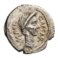 Lot 31. AR Denarius Julius Caesar. Rome. Late March-April 44 BC. 3.52 g. Crawford 480/17. About EF. Exceptional portrait. EUR 3,250.