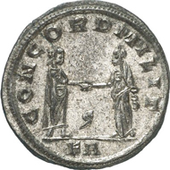 No. 2232: PROBUS, 276-282. Antoninianus, Siscia, 277. Rev. Emperor and Concordia clasping hands. RIC 650. Extremely fine. Estimate: 100 EUR. Final Price: 1,725 EUR.