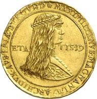 Nr. 8038: RDR. Maximilian I. (1490-1519). 7 Dukaten o. J. (posthume Prägung um 1563). Egg S. 44. Fb. 13 a (