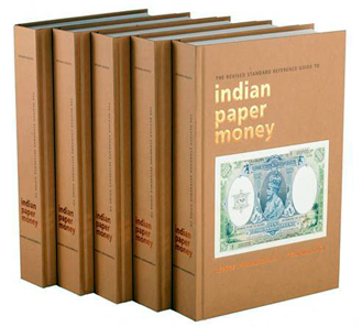 Rezwan Razack and K. Jhunjhunwala, The Revised Standard Reference Guide to Indian Paper Money, Currencies & Coins, 2012. ISBN: 9788189752156. $180.00.