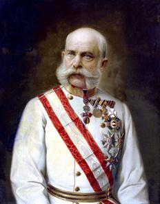 Kaiser Franz Joseph, um 1910, Ölgemälde. Bundesmobilienverwaltung. Quelle: Wikipedia.