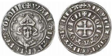Köln. Tournose des Walram, Graf von Jülich, o. J. (1343), Deutz. Aus Auktion Künker 44 (2005), 594.