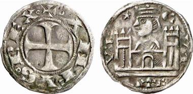 Alfonso VIII, 1158-1214. Dinero, Cuenca(?). From Künker 137 (2008), 3422.