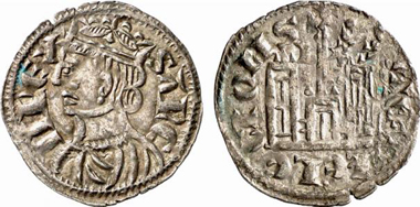 Sancho IV, 1284-1295. Cornado, Burgos. From Künker 137 (2008), 3434.