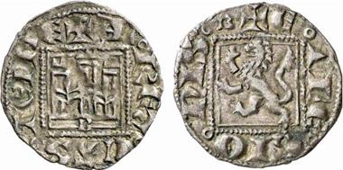 Alfons XI., 1312-1350. Noven, Burgos. Aus Künker 137 (2008), 3442.