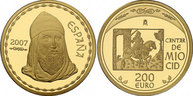Spain. 200 Euro 2007. From Gorny & Mosch / BW Bank 1 (2010), 1432.